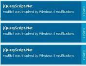 jQuery Windows 8-Style Notification Plugin - notific8