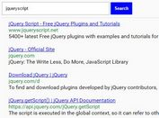 jQuery Wrapper For Bing Web Search API - bingSearch.js
