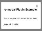 Pretty Simple Modal Popup Plugin - jq-modal