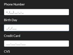 Mask Numeric Values In Input Fields - jQuery NumberMask