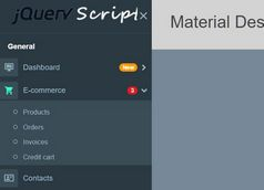 Material Design Inspired Side Navigation Based On Bootstrap 4