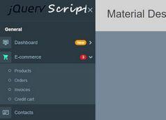 Material Design Inspired Side Navigation Based On Bootstrap 4