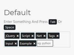 Minimal Tags Input Plugin In jQuery - tagInput.js