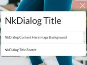 Full-featured Modal Dialog Plugin - jQuery NkDialog