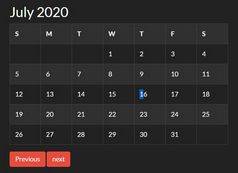 Create A Monthly Calendar For Date Picking - jQuery Osmanli Calendar