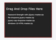 Drag And Drop Multi-file Upload Plugin - jQuery file-dropzone