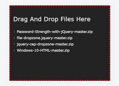 Drag And Drop Multi-file Upload Plugin - jQuery file-dropzone