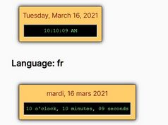 Customizable Multilingual Digital Clock Plugin - jqClock.js