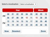 Customizable Multilingual Time Picker For jQuery UI
