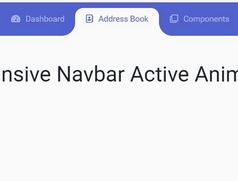Responsive Navbar Active Animation For Bootstrap 4