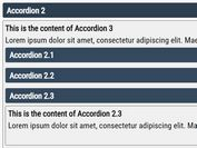 Nested Sliding Content Toggle Plugin - jQuery KV-JSAccordions