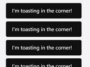 Non-blocking Toast Notification In jQuery - ToasterJS