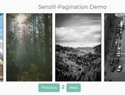 Fast Content Paginator With jQuery And Bootstrap 4 - Senzill Pagination
