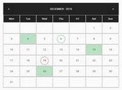 Responsive Calendar For Bootstrap 4 - calendarJS