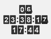 Retro Flipping Countdown Timer - jQuery Flip-Clock
