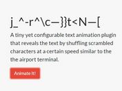 Reveal Text With A Random Shuffle Effect - Glitch.js