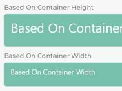 Scale Font Size Based On Container's Width Or Height - jQuery Fluid Typography