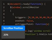 Determine Browser Scroll Percentage In jQuery - ScrollMonitor