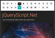 Simple Rich Text Editor In jQuery