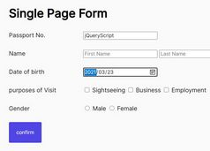 Single Page Signup Form Plugin In jQuery