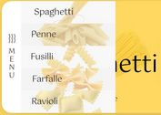 Fashion Sliding Menu With jQuery And GSAP - Pasta Menu