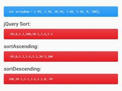 Sort An Array Of Numbers Correctly With jQuery num-sort Plugin