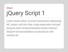 Concise Static Modal Window Plugin - jQuery Overlay