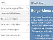 Sticky Multi-level Mobile Menu - jQuery Burgermenu