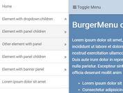 Sticky Multi-level Mobile Menu - jQuery Burgermenu