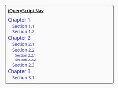 Create A Table Of Contents From Headings - jQuery contentify