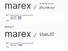 Configurable Text Rolling Effects In jQuery - textroll.js
