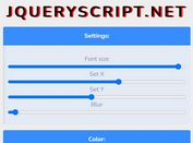 Text Shadow CSS Generator In jQuery