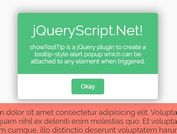 Tooltip Style Alert Popup Plugin - jQuery showToolTip