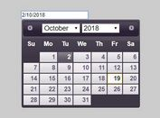 Universal Multilingual Date Picker For jQuery